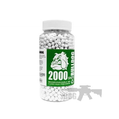 Bulldog Biodegradable 2000 Airsoft BB 0.28g White