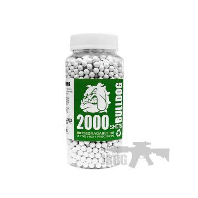 Bulldog Biodegradable 2000 Airsoft BB 0.28g White