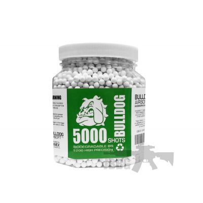 Bulldog Biodegradable 5000 Airsoft BB 0.20g White