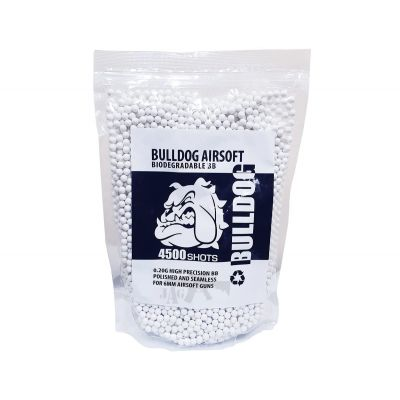 Bulldog Biodegradable 4500 Airsoft BB 0.20g White