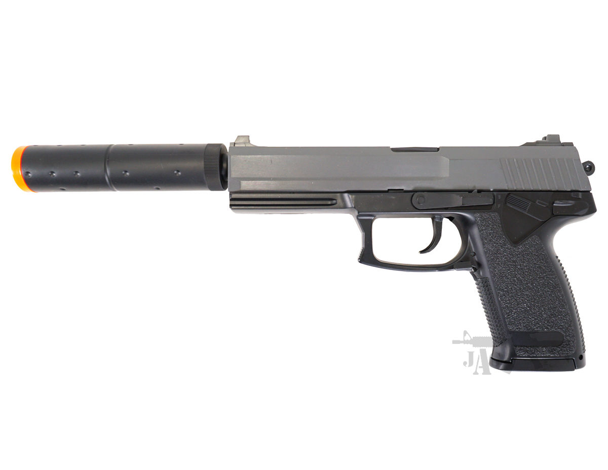 M23 HK23 Airsoft Spring Pistol with Silencer