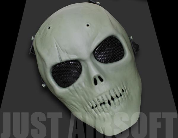 Full Face Skull Green MA13OD
