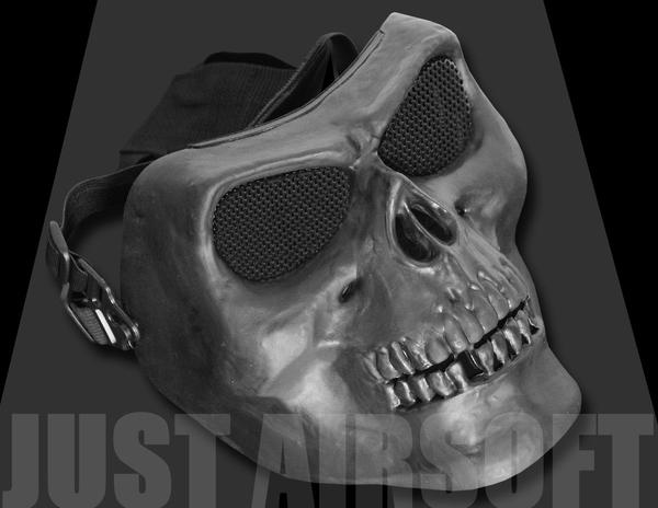 Black Airsoft Skull Mask MA22BK
