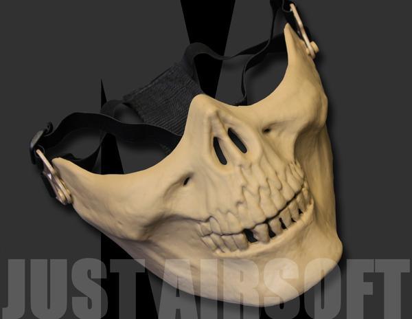Half Tan Skull Mask MA15T