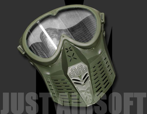 Airsoft Mask Green MA64OD