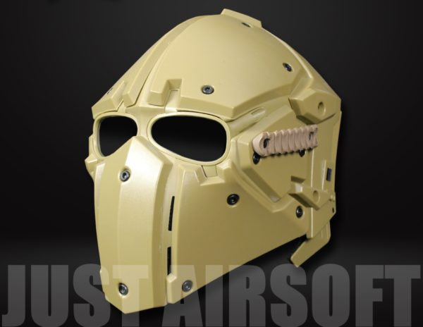 Airsoft Tactical Helmet with Full Face Mask HL91TAN US