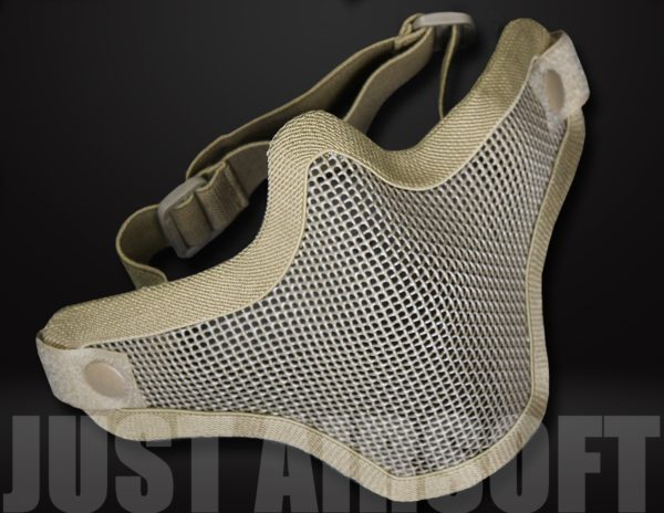 Lower Mesh Airsoft Mask Tan MA20T