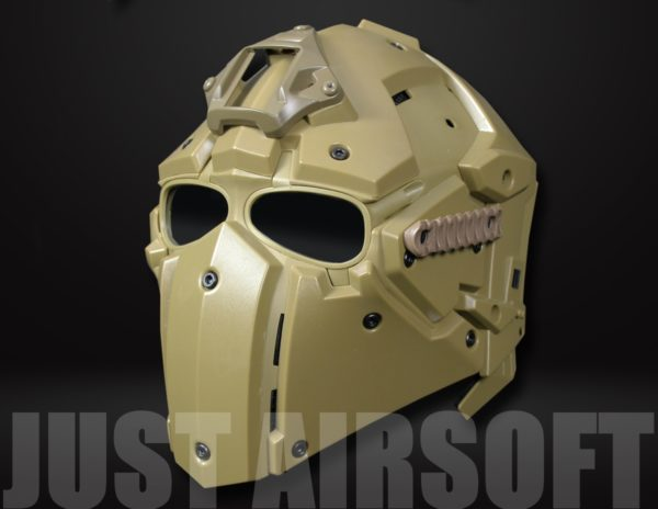Airsoft Tactical Helmet with NVG Shroud and Transfer Base HL92TAN US