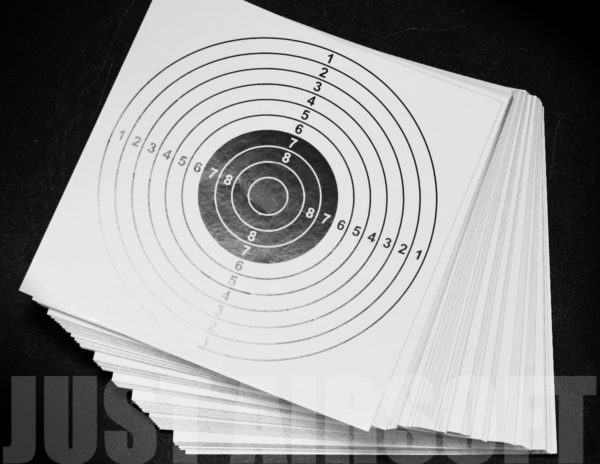 100 Card Airsoft Targets White US