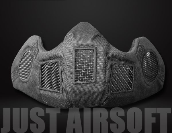 Airsoft Lower Face Mask Black MA83BK