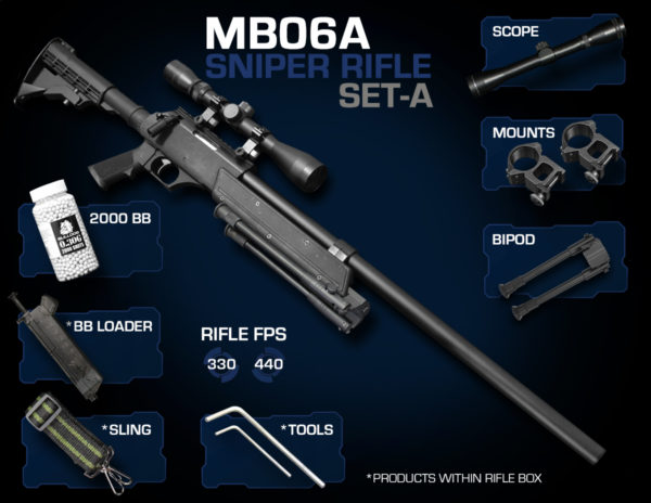 Well MB06 Sniper Rifle Set