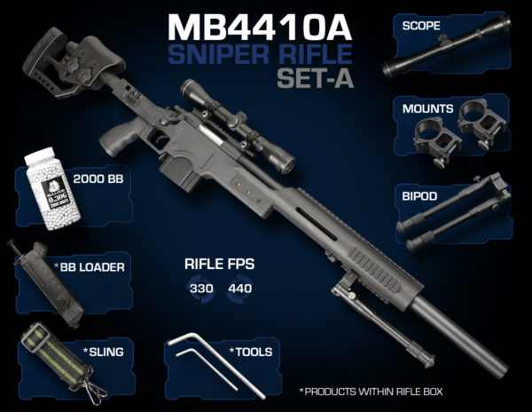 Well MB4410 Sniper Rifle Set