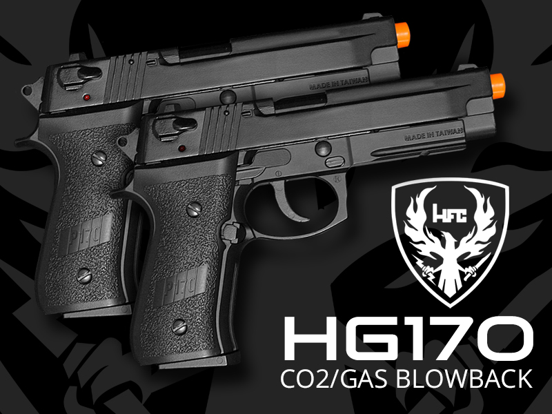 hg170 airsoft blowback pistols