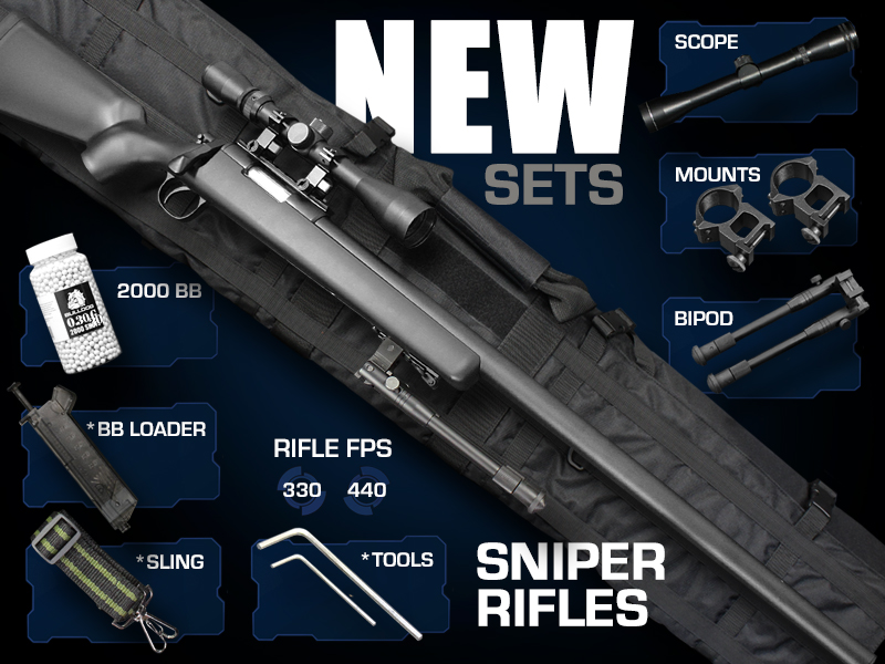 sniper rifle sets