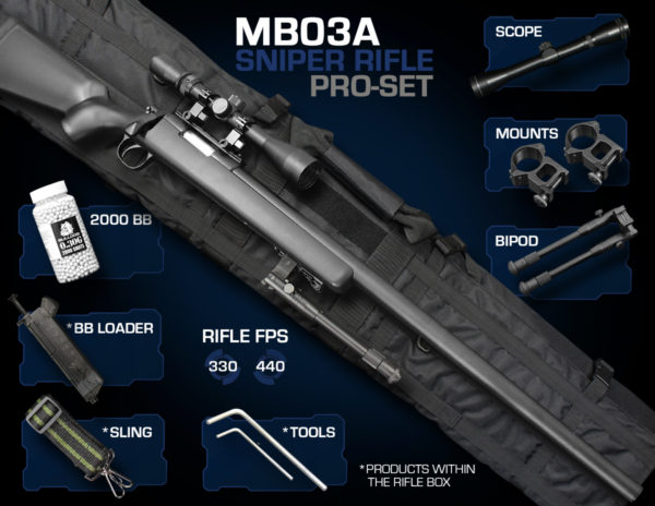 Well MB03 Sniper Rifle Set Pro