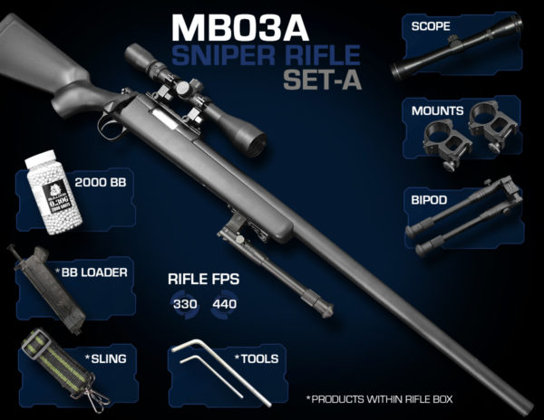 Well MB03 Sniper Rifle Set