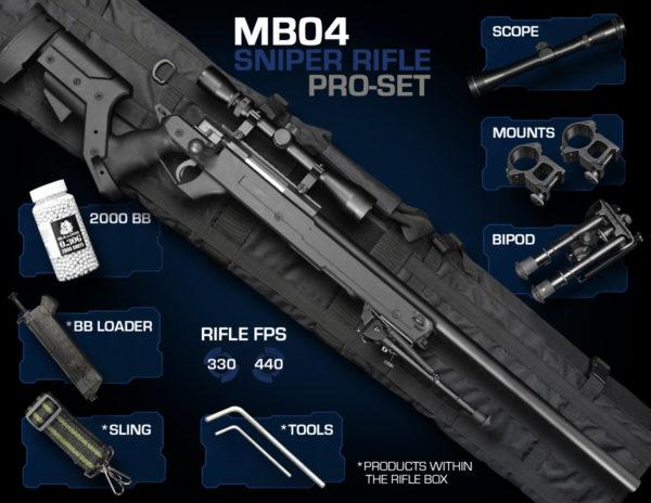 Well MB04 Sniper Rifle Set Pro