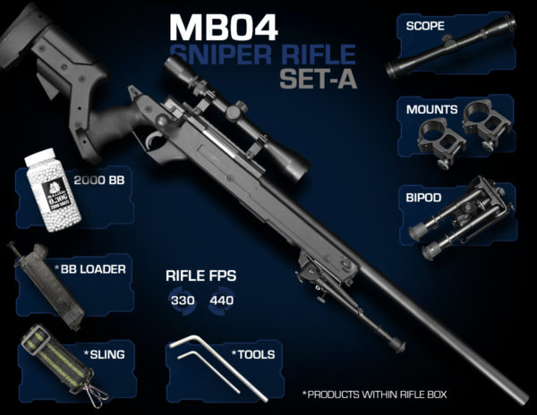 Well MB04 Sniper Rifle Set