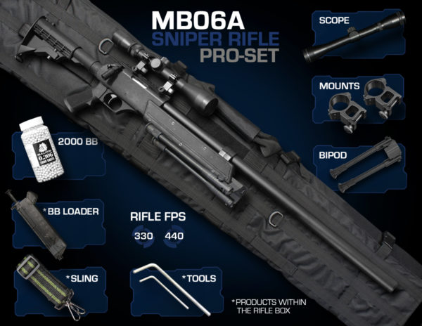 Well MB06 Sniper Rifle Set Pro