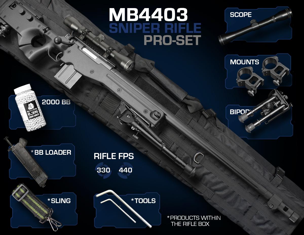 well mb4403 sniper rifle set pro just airsoft guns. Black Bedroom Furniture Sets. Home Design Ideas