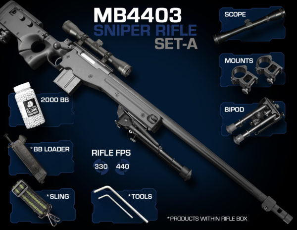 Well MB4403 Sniper Rifle Set