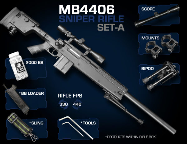 Well MB4406 Sniper Rifle Set