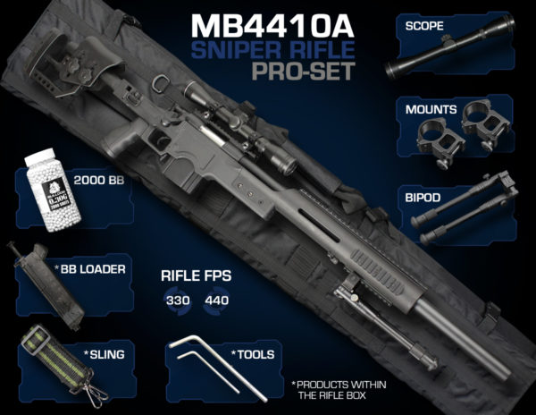 Well MB4410 Sniper Rifle Set Pro