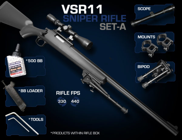 VSR11 Sniper Rifle Set