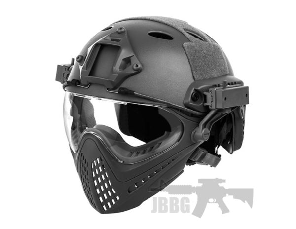 WoSport Piloteer Fast Helmet Face Mask BLACK