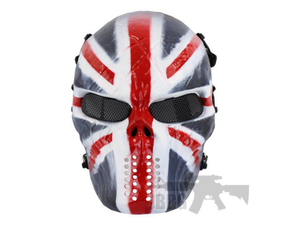 Painted Skull Airsoft UK Team Mask