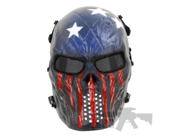 Painted Skull Airsoft USA Team Mask