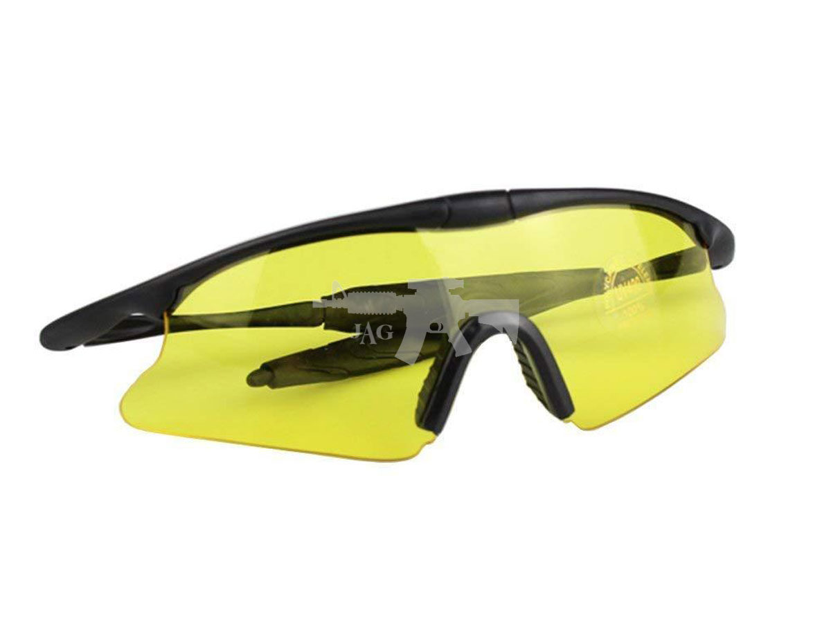 TACTICAL SHOOTING GLASSES FOR AIRSOFT YELLOW