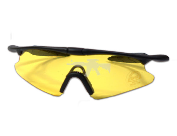 TACTICAL SHOOTING GLASSES FOR AIRSOFT YELLOW 3
