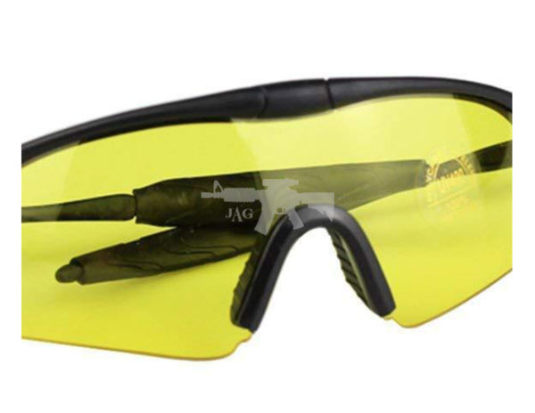 TACTICAL SHOOTING GLASSES FOR AIRSOFT YELLOW 2
