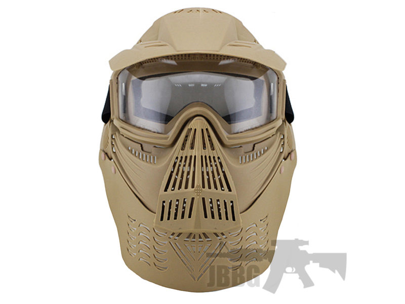 Transformers Ultimate Protection Airsoft Mask Tan