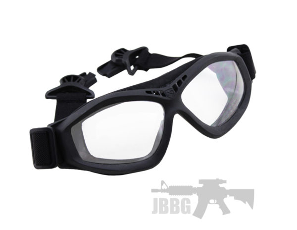Bravo One Airsoft Compact Goggles Black
