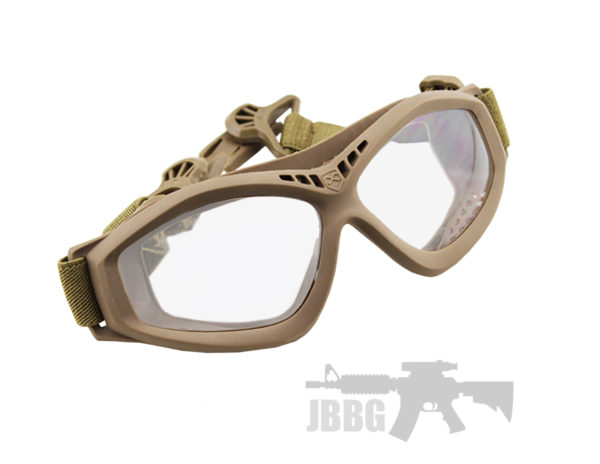 Bravo One Airsoft Compact Goggles Tan