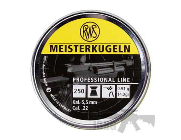 RWS Meisterkugeln Pro Line .22 250 CT Air Gun Ammo