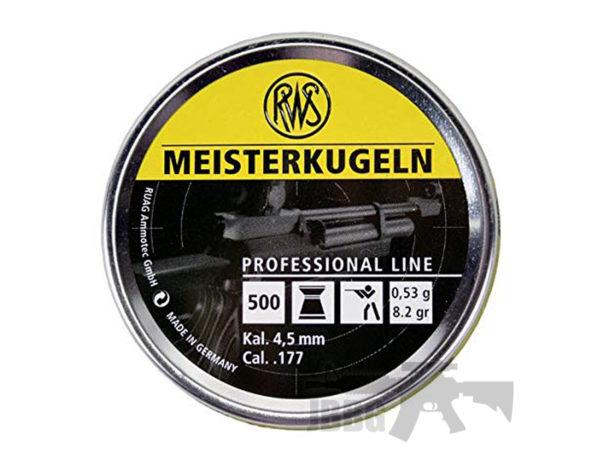 RWS Meisterkugeln Pro Line .177 500 CT Air Gun Ammo