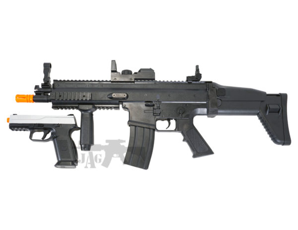 FN HERSTAL SCAR-L AIRSOFT ELECTRIC RIFLE AND FNS-9 SPRING AIRSOFT PISTOL BUNDLE SET