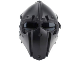 Airsoft Tactical Helmet with Full Face Mask - BLACK