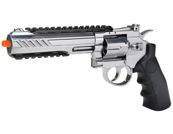 SRC 6 Inch Titan Full Metal CO2 Airsoft Revolver -SILVER