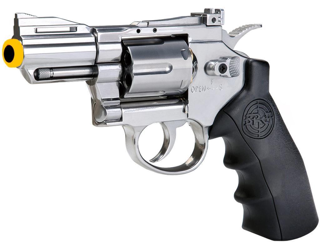 SRC 2.5 Inch Titan Full Metal CO2 Airsoft Revolver - Silver