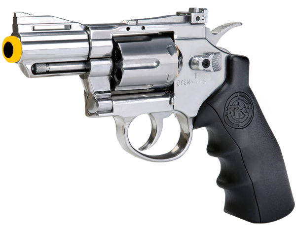 SRC 2.5 Inch Titan Full Metal CO2 Airsoft Revolver - Silver