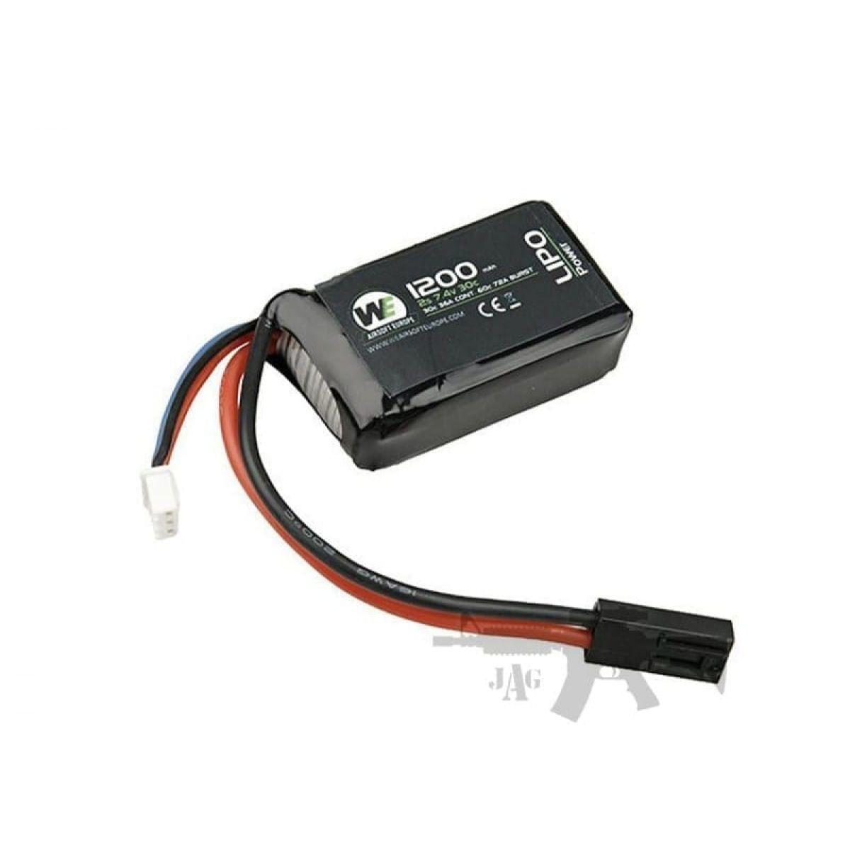 WE 1200MAH 7.4V 20CS Lipo AEG RIFLE Battery