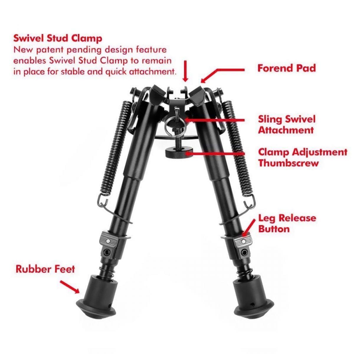 PRO BIPOD sniper mount retractable bipod