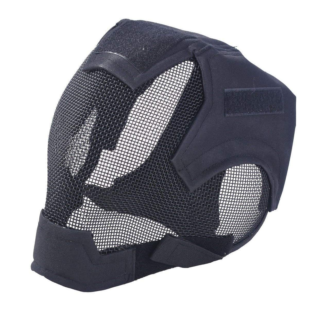 Airsoft Safety Mesh Mask Full Face & Ears Protection Fencing black