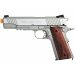 COLT 1911 FULL METAL CO2 AIRSOFT PISTOL – SILVER WOOD