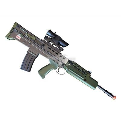 HA2020BA SA80 SPRING AIRSOFT RIFLE W/SCOPE
