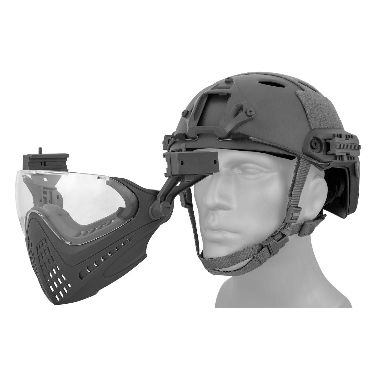 WOSPORT PILOTEER FAST HELMET FACE MASK BLACK protect